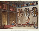 The Hall of Double Axes, Palace of Minos, illustration from 'The Palace of Minos at Knossos (Cnossos)' by Sir Arthur John Evans, four volumes (1921-1935), 1921 (colour litho)