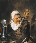Malle Babbe ( Witch of Haarlem), 1633-1635, by Frans Hals (circa 1581-1666), oil on canvas, 75x64 cm