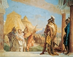 Briseis led to Agamemnon, by Giambattista Tiepolo (1696-1770), fresco, The Iliad Room, Villa Valmarana 'Ai Nani', Vicenza, Italy