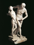 Daedalus and Icarus by Antonio Canova (1757-1822), marble sculpture, 220 cm height, 1779