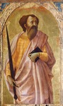 St Paul, panel from Altarpiece of Church of Carmine in Pisa, by Tommaso Masaccio (1401-1428), tempera on panel, 51x30 cm, 1426