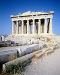 Greece, Athens, The Acropolis of Athens, West facade of Parthenon,5th Century BC, Ancient Greece
