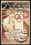 Poster advertising Salon des Cent exhibition by Alphonse Mucha, 1897