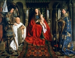 Madonna with Canon van der Paele by Jan van Eyck (1390-1441), oil on canvas, 1436