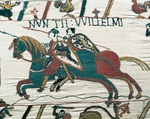 Cavalry, detail of Queen Mathilda's Tapestry or Bayeux Tapestry depicting Norman conquest of England in 1066, France, 11th century.