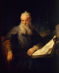 Apostle Paul, 1635, by Rembrandt (1606-1669), oil on canvas, 135x111 cm