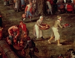 Servers carrying food and wine, detail from Wedding Banquet Presided Over by Archduke and Infanta, by Jan Brueghel the Elder, Velvet Bruegel (1568-1625), oil on canvas, 84x126 cm