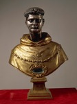 Bronze bust reliquary of Saint Thomas Aquinas.