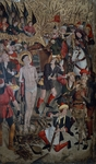 Martyrdom of St. Vincent, circa 1458, by Jaime Huguet (1412-1492), oil on canvas, 117x116 cm