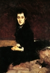 Mary Anthony, Mrs. Charles Gifford Dyer, 1880, by John Singer Sargent (1856-1925), 62x44 cm