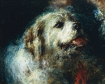 The Troubetzkoy Boys with a Dog, by Daniele Ranzoni, detail, 1874, oil on canvas