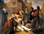 The Murder of Lorenzino de' Medici, by Giuseppe Bezzuoli, 1840