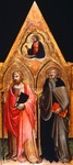 Panel showing St James the Apostle and St Anthony Abbot, by Tuscan Master