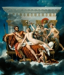 Mars disarmed by Venus and the Three Graces , by Jacques-Louis David (1748-1825).