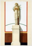 Reproduction of the Statue of Isis, from the Houses and Monuments of Pompeii, by Fausto and Felice Niccolini, Volume I, Temple of Isis, Plate VI, 1854-1896.