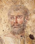 Italy, Lazio Region, Rome, Ipogeo degli Aureli (funerary complex),Wall painting depicting an apostle