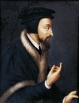 Switzerland, Geneva, Portrait of French theologian and religious reformer, John Calvin (1509 - 1564), Miniature