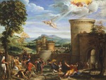 Martyrdom of St Stephen, by Antonio Carracci (1583-ca 1618), oil on canvas, ca 1604