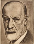 Austria, Vienna, Portrait of Sigmund Freud