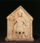 England, Sisley, Headstone depicting an armed knight