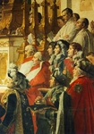 Coronation of Napoleon, 1807, by Jacques-Louis David (1748-1825), oil on canvas, 610x970 cm, Detail