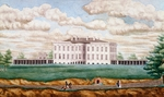 White House in Washington, May 1821, by Jefferson Vail, watercolor, 22.2 cm x26.8 cm, Detail, United States, 19th century