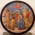 Martyrdom of St Maurelio, 1480, by Cosme' Tura (1430-ca 1495), oil on wood, diameter 48 cm