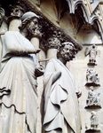 Statue of apostle, detail of south door of Cathedral of Notre-Dame (UNESCO World Heritage List, 1991), Reims. France, 13th century.