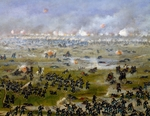 Battle of Curupayty, Argentine troops launching attack on September 22, 1866, by Candido Lopez