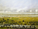 Column of Argentine forces led by General Emilio Mitre, launching attack in Curupayty, September 22, 1866, by Candido Lopez