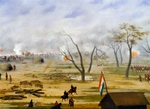 Paraguayan army encampment during war with Argentina, by Candido Lopez
