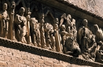 Apostles, decorative relief from facade of Church of St John Baptist, Carrion de los Condes, Castile and Leon, Spain, 12th century