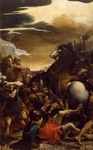 The conversion of St Paul, by Lodovico Carracci (1555-1619), oil on canvas, 278x170 cm.