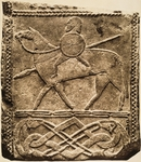 7th-8th century tombstone depicting knight, from Hornhausen, Germany.