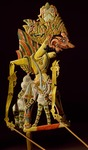 Painted wooden puppet from Indonesia