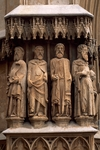 Statues of the Apostles, 1278, detail from the door of Tarragona Cathedral (UNESCO World Heritage List, 2000), Catalonia. Spain, 14th century.