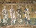 Four Apostles, from enthroned Virgin with archangels and apostles, mosaic, Chapel of Blessed of Holy Sacrament, or apse of Santa Maria Assunta, Trieste Cathedral, Italy, 12th century