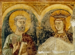 St Peter Apostle and St Catherine of Alexandria, 13th-century fresco in San Michele Maggiore Basilica, Pavia, Italy, 13th century