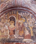 Martyrdom of St John and Miracle of St Magnus, first half of 13th century frescoes in Crypt of St Magnus, St Mary Cathedral, Anagni, Lazio, Italy, 13th century
