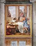 Martyrdom of St Margaret, fresco, Basilica of St Stephen in Round on Celian Hill, Rome, Italy, 16th century
