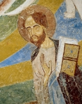 St. Paul with book in hand, detail of Christ of Majesty, fresco, crypt apse of Monte Maria Abbey, near Mals (Malles Venosta), Trentino-Alto Adige, Italy, 12th century