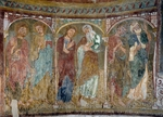Apostles, fresco, apse of San Giacomo (St James) Church di Castella, near Tramin, Trentino-Alto Adige. Italy, 13th century.