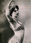 Mata Hari, pseudonym of Margaretha Geertruida Zelle (1876-1917), Dutch dancer and spy, Postcard