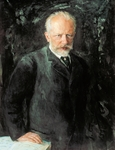 Portrait of Peter Ilyich Tchaikovsky (Kamsko-Votkinsk, 1840-St Petersburg, 1893), Russian composer. Painting by Nikolai Kusnezow, 1893