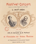 Title page of programme for concert by Camille Saint Saens, held at the Salle Played in Paris, 1896