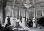 French playwright Victorien Sardou (1831-1908) directing rehearsal of his opera Madame Sans Gene, 1894