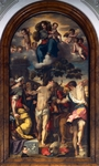 Martyrdom of St Sebastian, 1558, altarpiece by Federico Barocci (1535-1612), oil on canvas, 405x225 cm, Cathedral of Urbino, Italy.