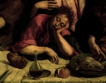 The sleeping Apostle, detail from the Last Supper, 1546-1548, by Jacopo Bassano (1517-1592), oil on canvas, 168x270 cm.