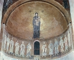 Madonna and Child with Apostles, 12th-13th century, central apse of Cathedral of Torcello, Veneto, Italy