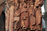 Apostles and prophets, Portico of Glory (1168-1188), Cathedral of Santiago de Compostela, Santiago de Compostela (Unesco World Heritage List, 1985), Galicia, Spain